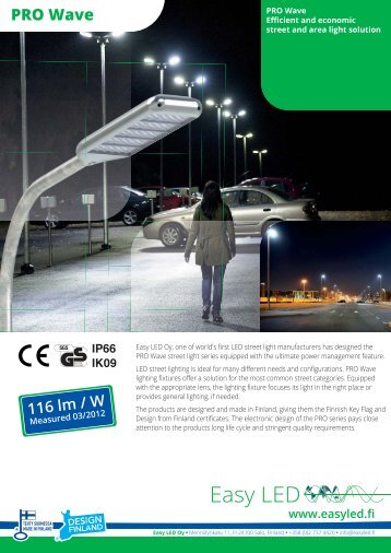 Download PRO Wave brochure here - Easy Led