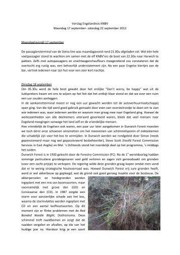 Verslag Engelandreis KNBV - Koninklijke Nederlandse Bosbouw ...