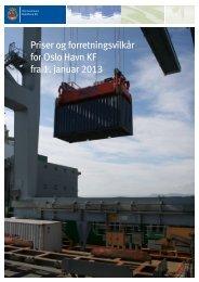 Priser og forretningsvilkår for 2013 - Oslo Havn