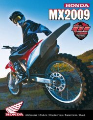 Motocross / Enduro / Knattecross / Supermoto / Quad - Honda MC ...