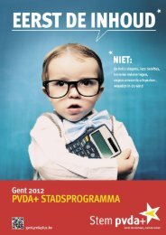 Lees hier het uitgebreide Stadsprogramma - PVDA Gent