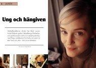 Ung och hängiven. Personporträtt om Sofia Pekkari av Cecilia Burman