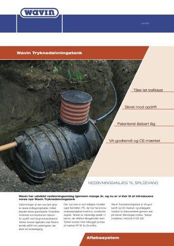 Brochure/Wavin Tryknedsivningstank - Jens Dalsgaard