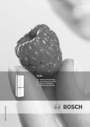 Bosch KGN 39A73 Fridge Freezer Operating Instructions User ...