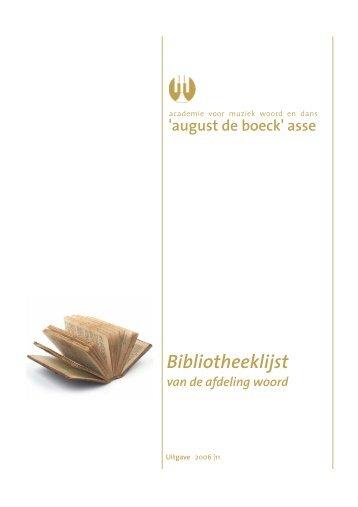 Bibliotheeklijst - Academie Asse