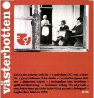 kvinnors arbete och liv • i självhushåll och yrkes - Västerbottens ...