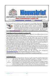 Nieuwsbrief - Oosterhoutse Vereniging van Postzegelverzamelaars
