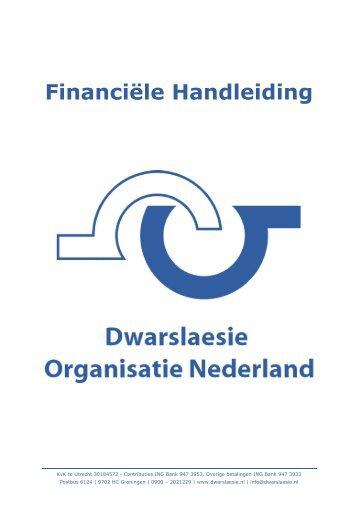 Financiële Handleiding - Dwarslaesie Organisatie Nederland