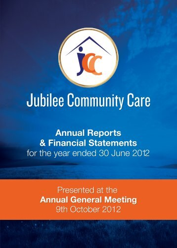 to download JCC 2012 Annual Report - Jubilee Community Care