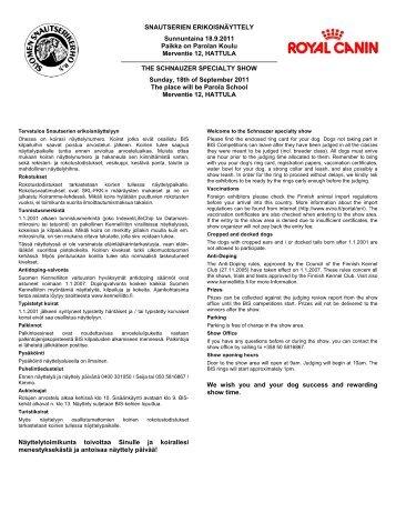 Page 1 Tervetu Ohessa kilpailuih näyttelyp mukaan sekä rek ...