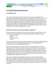 Verslag Platform RO gemeenten - Pmgg