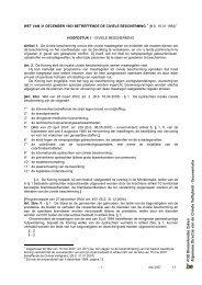 wet van 31 december 1963 betreffende de ... - Civiele Veiligheid