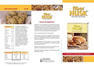 FiberHUSK ® – ekstra fibre, når du bager