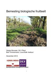 Brochure Bemesting in de biologische fruitteelt - DLV Plant
