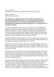 Pressemeddelelse om Bækkelund (pdf) - Nordic School of Butoh