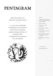Pentagram 2003 nr. 1 - Lectorium Rosicrucianum