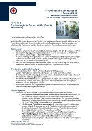 Rotkreuzklinikum München Frauenklinik Portfolio Gynäkologie ...