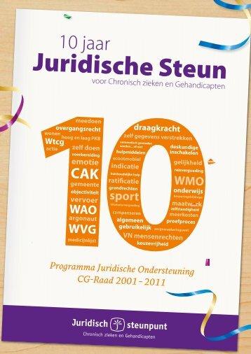 Download en bekijk 10 jaar Juridische Steun - Juridisch steunpunt