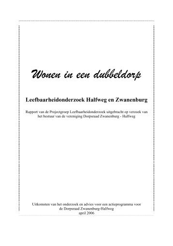 Rapport - Dorpsraad Zwanenburg-Halfweg
