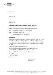Kallelse till Arbetsutskottets sammanträde den 31 maj 2013