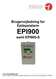 EPI900 Brugervejledning - Vers 12DK - KNOP ELEKTRONIK A/S
