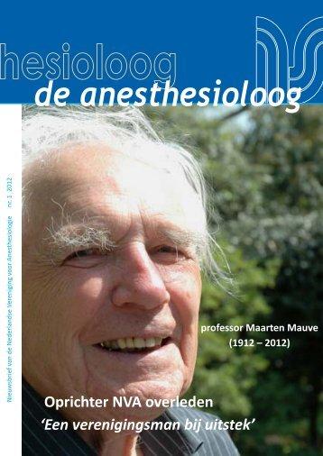 nr 1 2012.pdf - Nederlandse Vereniging voor Anesthesiologie