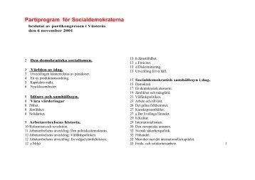 En pdf-fil med en lättläst version av socialdemokraternas partiprogram.