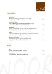 Voorgerechten Soepen - Restaurant Noor