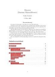 Minoren (Seminar Matroidtheorie) - Volker Grabsch