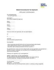 Model Overeenkomst Van Opdracht 2012 - Sportservicedesk