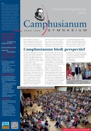 Voorlichtingskrant - Gymnasium Camphusianum