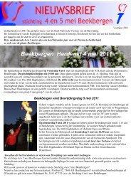Nieuwsbrief van de stichting 4 en 5 mei Beekbergen voorjaar 2011 ...