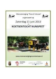 flyer route Koetsentocht Nunspeet 2013 - Menvereniging Noord ...