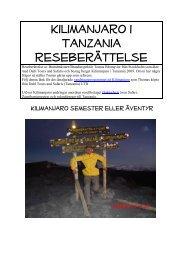 Läs Thomas reseberättelse från hans bestigning ... - Safari i Tanzania