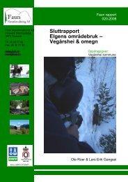 Elgens områdebruk – Vegårshei & omegn - Faun Naturforvaltning AS