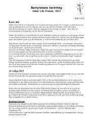 Bestyrelsens beretning - OLF 2013 - Odder Lille Friskole