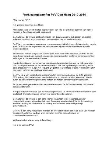Verkiezingsprogramma 2010-2014 - David Rietveld