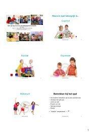Opgaan in het spel - Kinderopvangtotaal