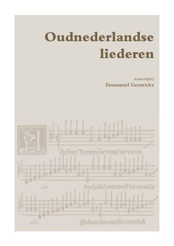 Catalogus Oudnederlandse liederen - Academie Asse
