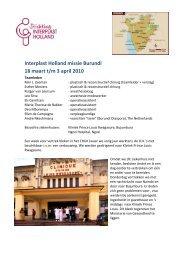Interplast Holland missie Burundi 18 maart t/m 3 april 2010