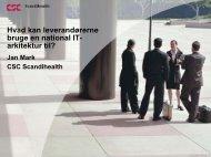 Hvad kan leverandørerne bruge en national IT ... - EPJ-Observatoriet