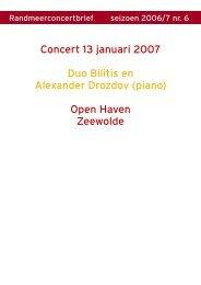 Nieuwsbrief 2006-7 nr. 6 13 januari 2007 Zeewolde.pub