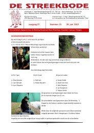 Jaargang 27 Nummer: 21 28 juni 2012 SCHOLENVISWEDSTRIJD
