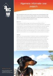 Algemene informatie over puppy's - Akc