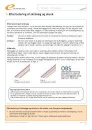 Efterisolering af skråvæg og skunk - Energitjenesten