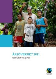 årsöversikt 2011 - Fairtrade