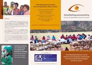 presentatiefolder 2013 - Alumni Ontwikkelingssamenwerking Leuven