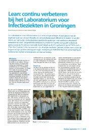 Lean: continu verbeteren bij het Laboratorium voor Infectieziekten in ...