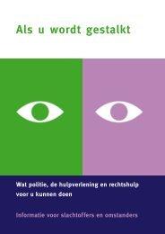 Downloaden brochure Als u wordt gestalkt - Huiselijk Geweld