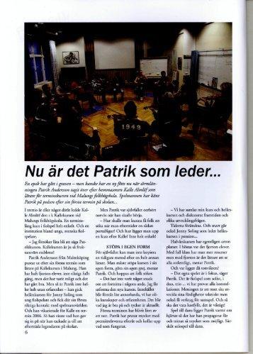 2010-02-25 Spelmannen Patrik Andersson tar över som kursledare ...